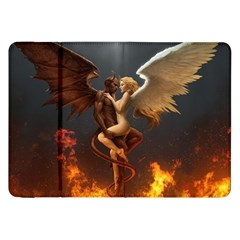 Angels Wings Curious Hell Heaven Samsung Galaxy Tab 8 9  P7300 Flip Case