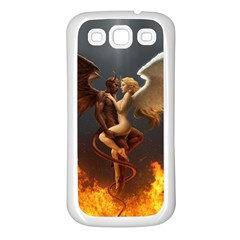 Angels Wings Curious Hell Heaven Samsung Galaxy S3 Back Case (white)