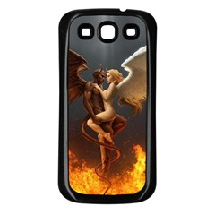 Angels Wings Curious Hell Heaven Samsung Galaxy S3 Back Case (black)