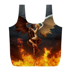 Angels Wings Curious Hell Heaven Full Print Recycle Bags (l)  by BangZart