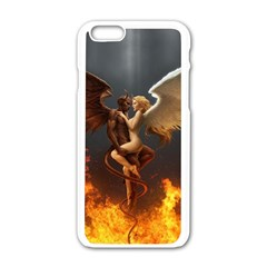 Angels Wings Curious Hell Heaven Apple Iphone 6/6s White Enamel Case by BangZart