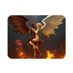 Angels Wings Curious Hell Heaven Double Sided Flano Blanket (mini)  by BangZart
