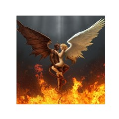 Angels Wings Curious Hell Heaven Small Satin Scarf (square) by BangZart