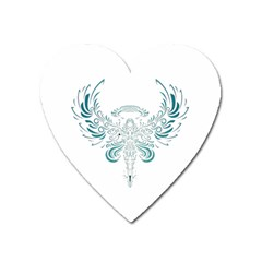 Angel Tribal Art Heart Magnet by BangZart