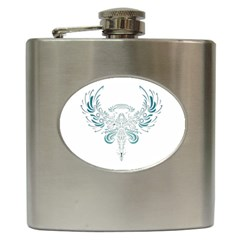 Angel Tribal Art Hip Flask (6 Oz)