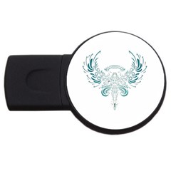 Angel Tribal Art Usb Flash Drive Round (2 Gb)