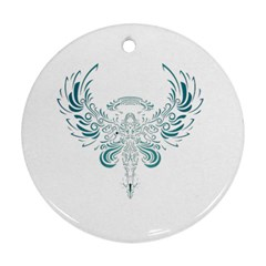 Angel Tribal Art Round Ornament (two Sides)
