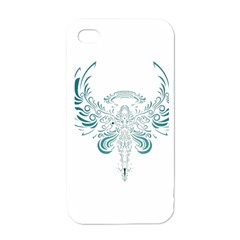 Angel Tribal Art Apple Iphone 4 Case (white) by BangZart
