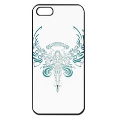 Angel Tribal Art Apple Iphone 5 Seamless Case (black)