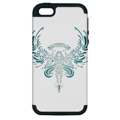 Angel Tribal Art Apple Iphone 5 Hardshell Case (pc+silicone)