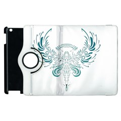 Angel Tribal Art Apple Ipad 2 Flip 360 Case by BangZart