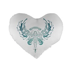 Angel Tribal Art Standard 16  Premium Heart Shape Cushions