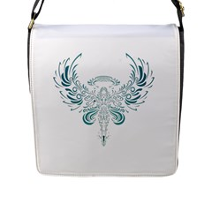 Angel Tribal Art Flap Messenger Bag (l)  by BangZart