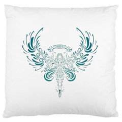 Angel Tribal Art Large Flano Cushion Case (two Sides) by BangZart
