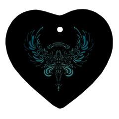 Angel Tribal Art Ornament (heart) by BangZart
