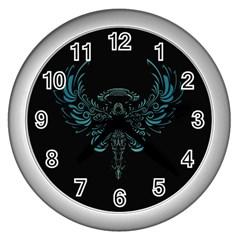 Angel Tribal Art Wall Clocks (silver)  by BangZart