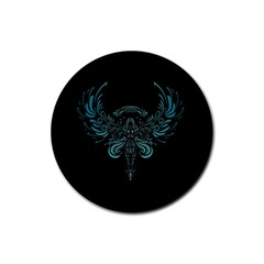 Angel Tribal Art Rubber Coaster (round)  by BangZart