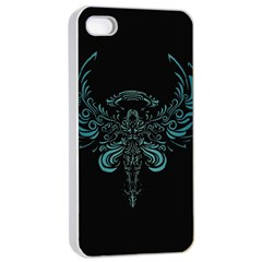 Angel Tribal Art Apple Iphone 4/4s Seamless Case (white) by BangZart
