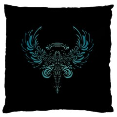 Angel Tribal Art Large Flano Cushion Case (one Side) by BangZart
