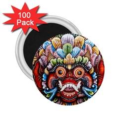Wood Sculpture Bali Logo 2 25  Magnets (100 Pack)  by BangZart