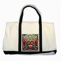 Wood Sculpture Bali Logo Two Tone Tote Bag