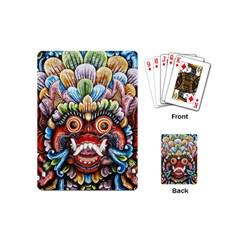 Wood Sculpture Bali Logo Playing Cards (mini)  by BangZart