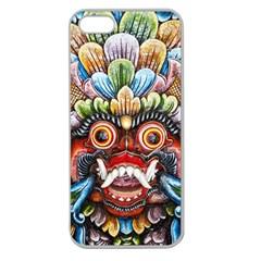 Wood Sculpture Bali Logo Apple Seamless Iphone 5 Case (clear)