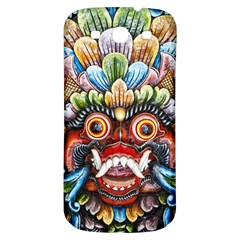 Wood Sculpture Bali Logo Samsung Galaxy S3 S Iii Classic Hardshell Back Case by BangZart