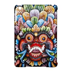 Wood Sculpture Bali Logo Apple Ipad Mini Hardshell Case (compatible With Smart Cover) by BangZart