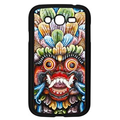 Wood Sculpture Bali Logo Samsung Galaxy Grand Duos I9082 Case (black)