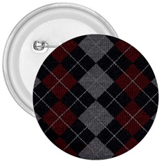 Wool Texture With Great Pattern 3  Buttons