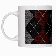 Wool Texture With Great Pattern White Mugs by BangZart
