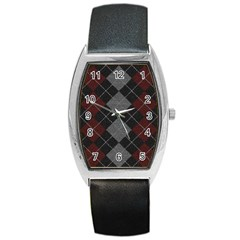 Wool Texture With Great Pattern Barrel Style Metal Watch by BangZart
