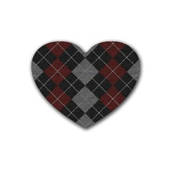 Wool Texture With Great Pattern Heart Coaster (4 Pack)