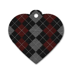 Wool Texture With Great Pattern Dog Tag Heart (one Side) by BangZart