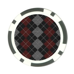 Wool Texture With Great Pattern Poker Chip Card Guard (10 Pack)