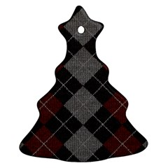 Wool Texture With Great Pattern Christmas Tree Ornament (two Sides)