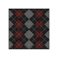Wool Texture With Great Pattern Acrylic Tangram Puzzle (4  X 4 ) by BangZart
