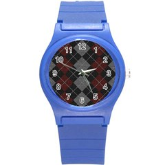 Wool Texture With Great Pattern Round Plastic Sport Watch (s)