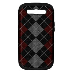 Wool Texture With Great Pattern Samsung Galaxy S Iii Hardshell Case (pc+silicone)