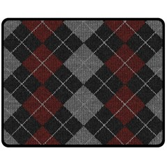 Wool Texture With Great Pattern Double Sided Fleece Blanket (medium)  by BangZart