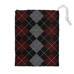 Wool Texture With Great Pattern Drawstring Pouches (extra Large)