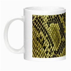 Yellow Snake Skin Pattern Night Luminous Mugs by BangZart
