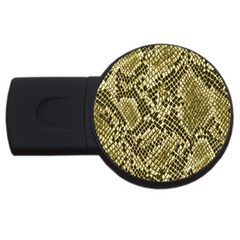 Yellow Snake Skin Pattern Usb Flash Drive Round (4 Gb) by BangZart