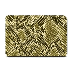 Yellow Snake Skin Pattern Small Doormat