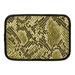 Yellow Snake Skin Pattern Netbook Case (medium)