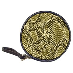 Yellow Snake Skin Pattern Classic 20 Cd Wallets