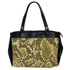 Yellow Snake Skin Pattern Office Handbags (2 Sides)