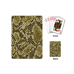 Yellow Snake Skin Pattern Playing Cards (mini)  by BangZart