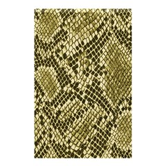 Yellow Snake Skin Pattern Shower Curtain 48  X 72  (small)